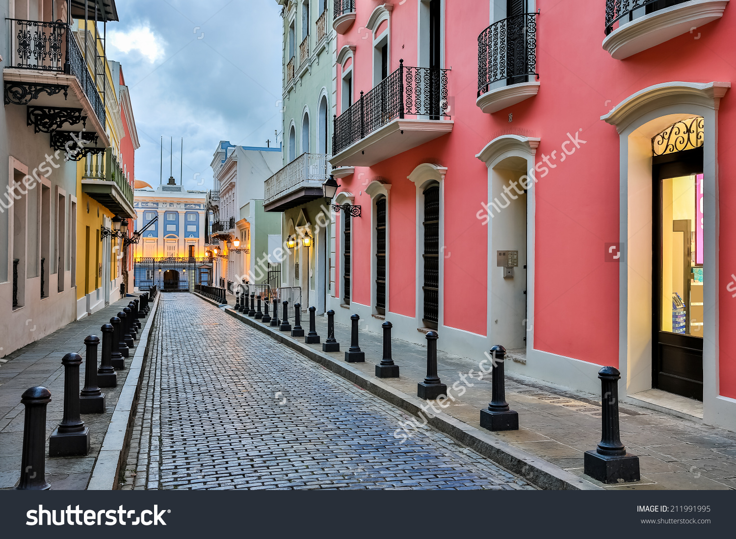 Stock Photo Street In Old San Juan Puerto Rico 211991995 Piloto 151